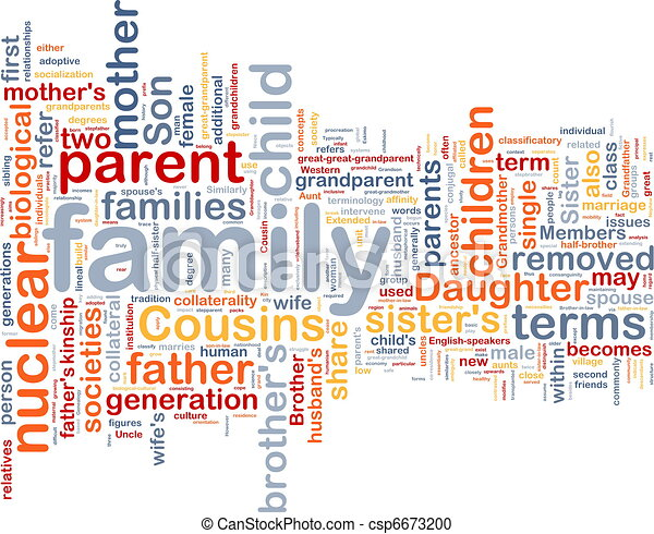 Background concept wordcloud illustration of family - csp6673200