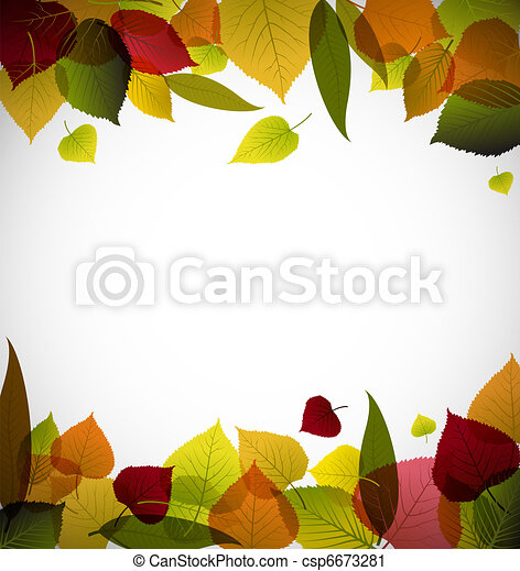 Autumn leafs abstract background - csp6673281