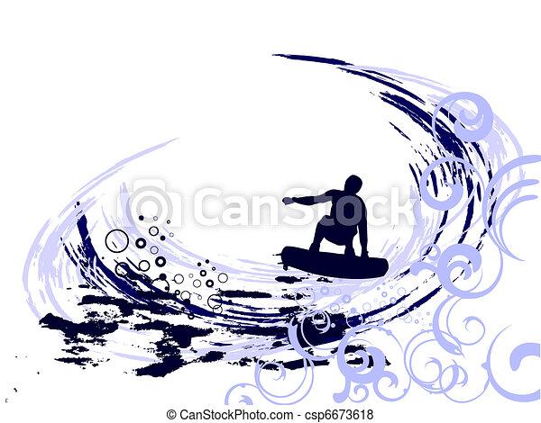 summertime - surfing - csp6673618