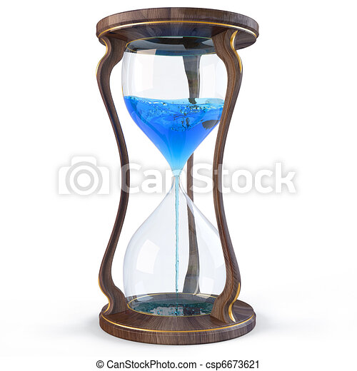 Clipart di clessidra legno clessidra con blu for Costo di finestre a clessidra