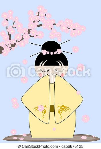 Japan spring - csp6675125
