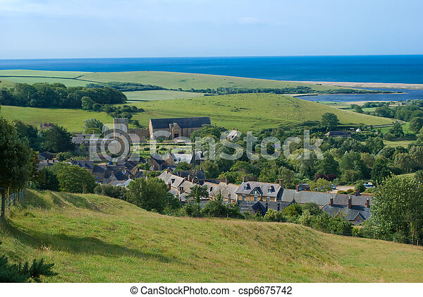 Abbotsbury Village Dorset England - csp6675742