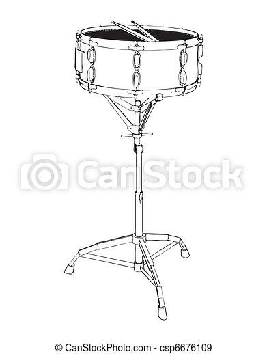 Drums  - csp6676109