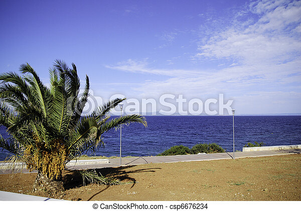 Aegean sea view - csp6676234