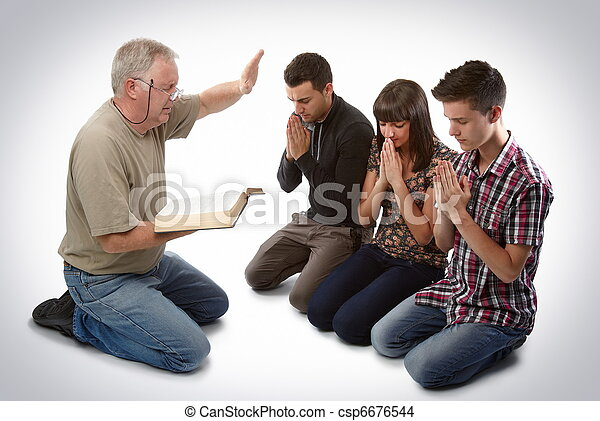 Leading three people to Christ - csp6676544