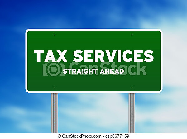 Tax Services Highway Sign - csp6677159