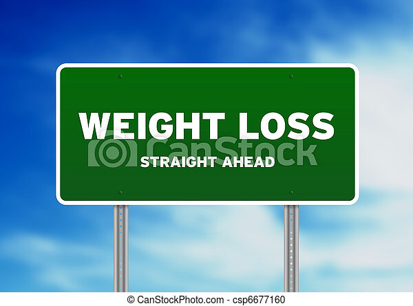Weight Loss Highway Sign - csp6677160