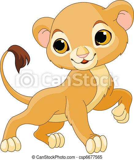 Brave  Lion Cub - csp6677565