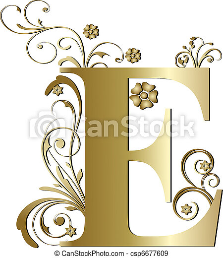Stock Photographs of capital letter E gold csp6677609 - Search Stock Photography, Photos, Images, and Photo Clip Art