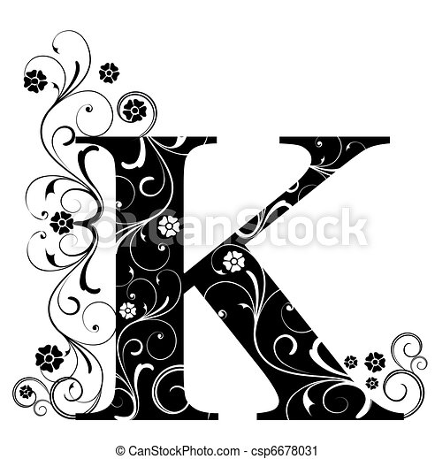 Letter Capital K - csp6678031