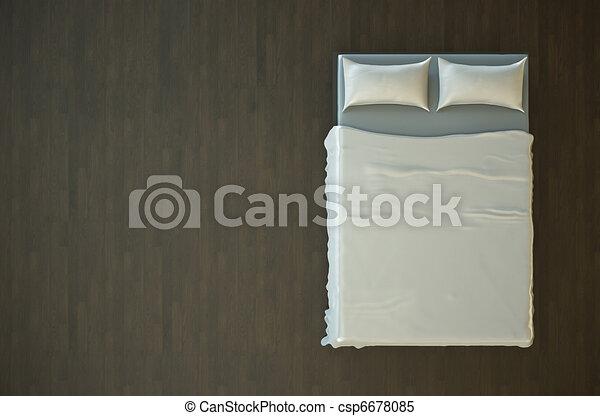 Empty bed - csp6678085