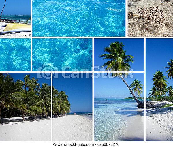 Collage of Republic Dominican - csp6678276