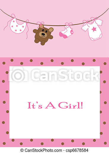 Baby Girl Announcement - csp6678584