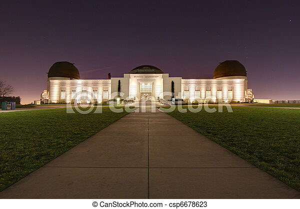 Landmark Griffith Observatory in Los Angeles, California - csp6678623