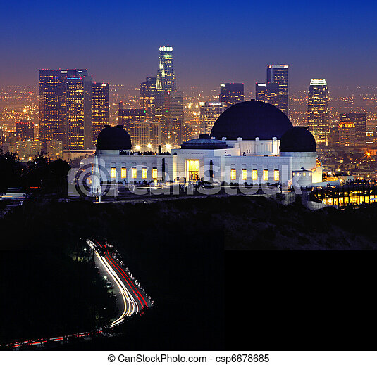 Landmark Griffith Observatory in Los Angeles, California - csp6678685