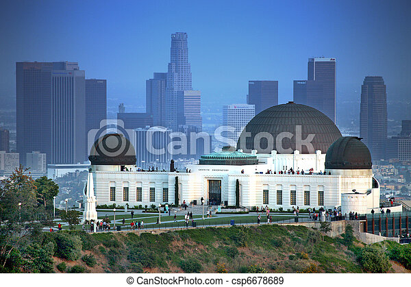 Landmark Griffith Observatory in Los Angeles, California - csp6678689