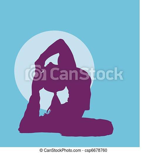 meditating girl - csp6678760