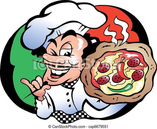 Italien Pizza Baker   - csp6679551