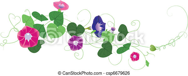 Fantasy garden background-Morning glory 