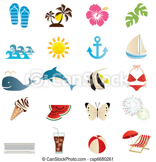 Summer icons set - csp6680261