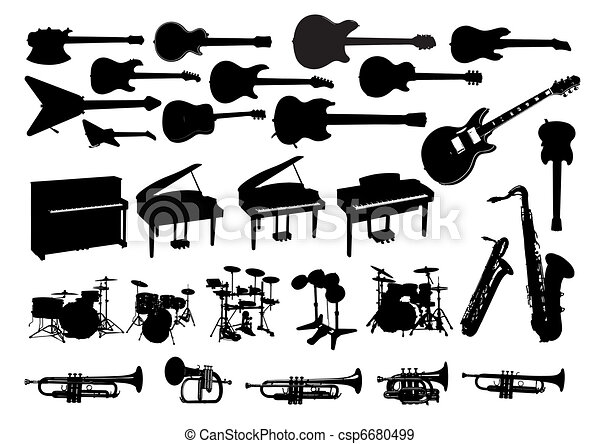 The icons of musical instruments - csp6680499