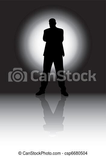 Silhouette man - csp6680504