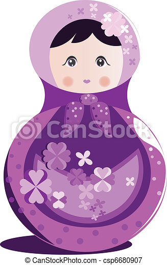 Russian doll vector - csp6680907
