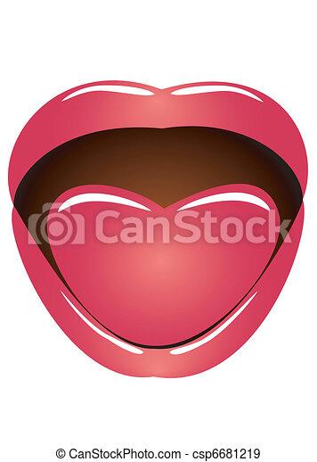 Mouth and language - csp6681219