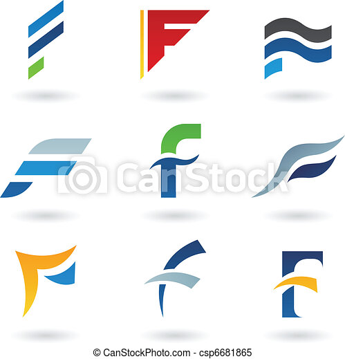 Abstract icons for letter F - csp6681865