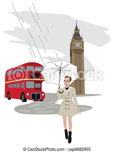 Woman in London - csp6682955