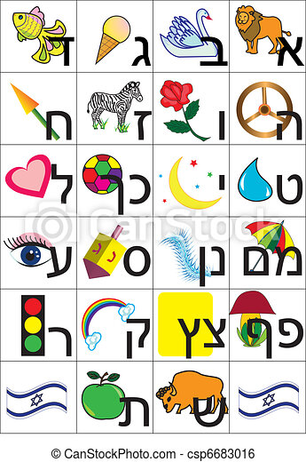 hebrew alphabet - csp6683016