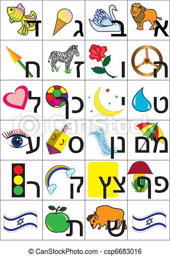 hebrew alphabet - csp6683016