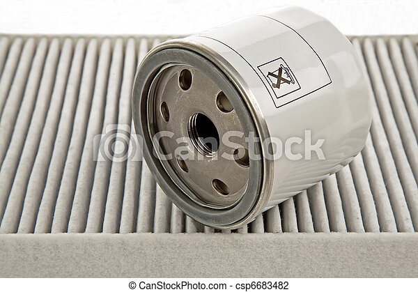 car oil filter and pollen filter - csp6683482