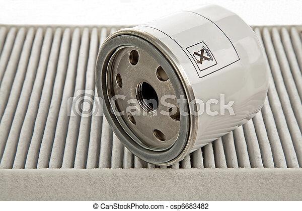 car oil filter and pollen filter - csp6683482