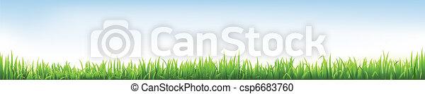 Header With Grass  - csp6683760