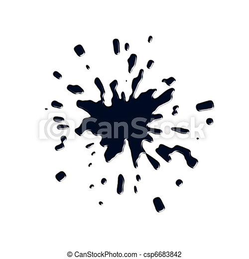 Ink splashes, stains - csp6683842
