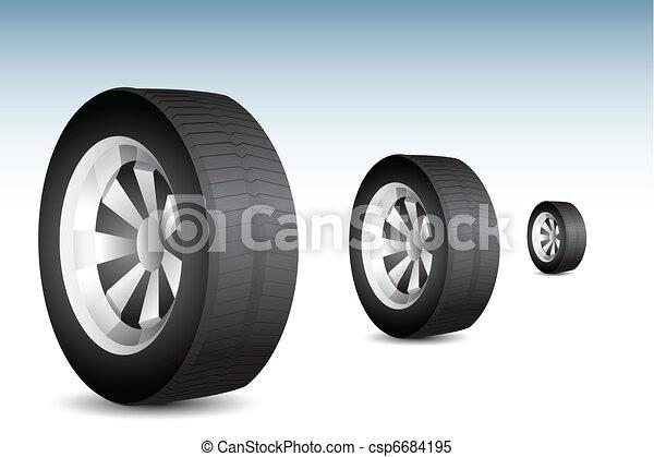 Rolling Tyre - csp6684195