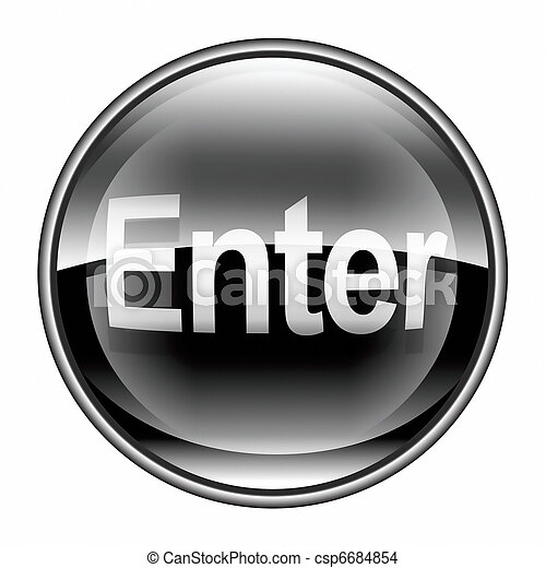 Enter icon black, isolated on white background - csp6684854