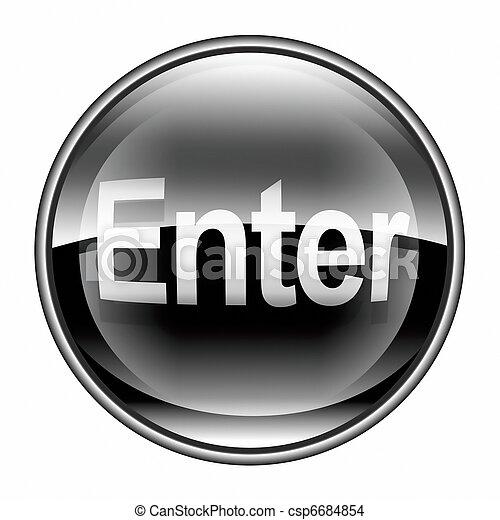Enter icon black, isolated on white background - csp6684854