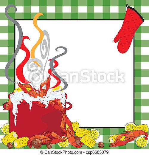 Crawfish Boil Invitation - csp6685079