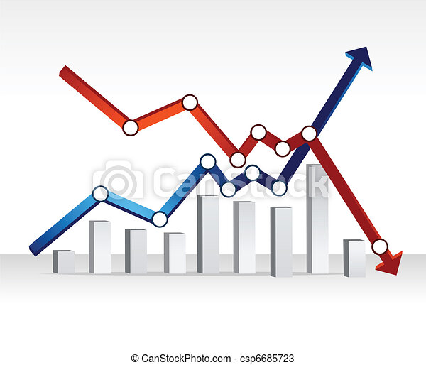 financial chart illustration design - csp6685723