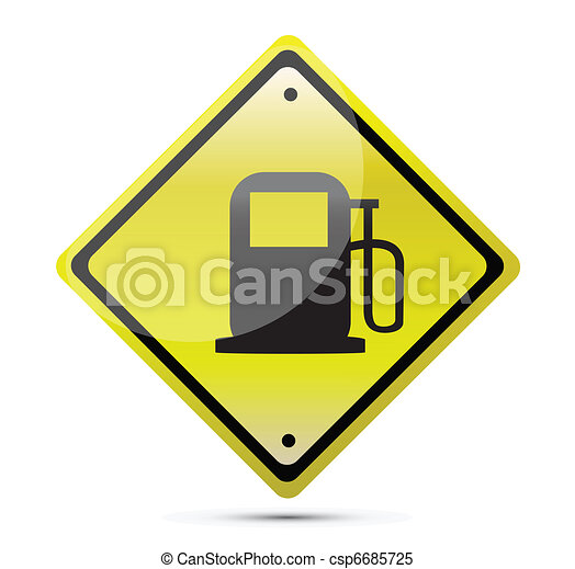 Gas station yellow sign - csp6685725
