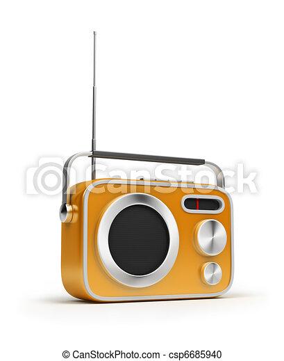 retro radio - csp6685940