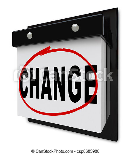 Change Word on Wall Calendar Motivates You to Improve - csp6685980