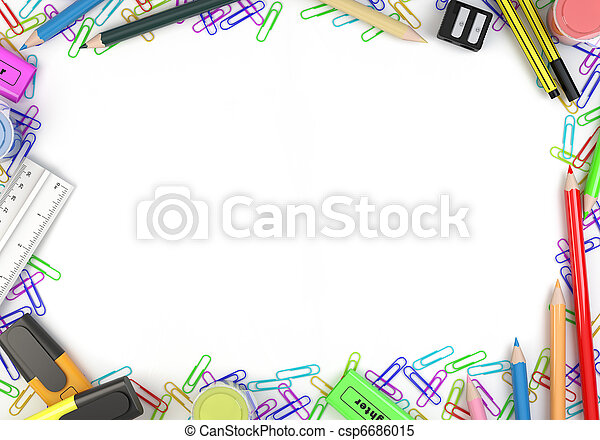 stationery objects frame - csp6686015