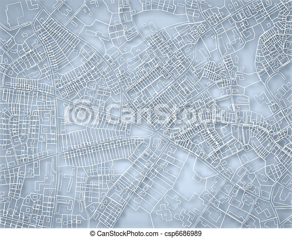Rough blue map - csp6686989