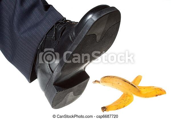 step on a banana peel - csp6687720