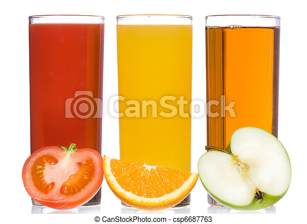 fresh juice with fruits and vegetable - csp6687763