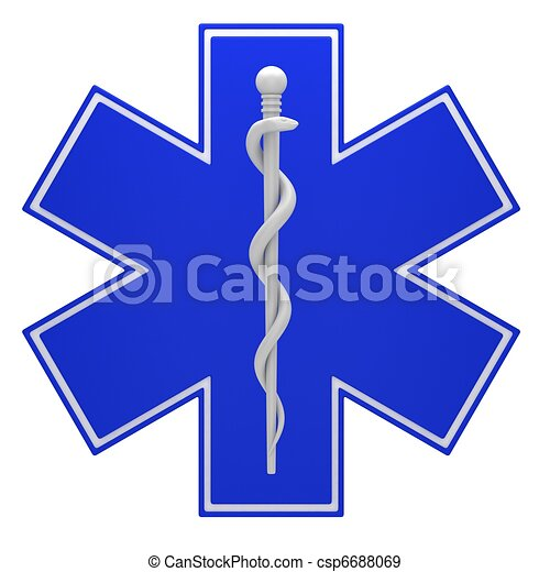 Star of life medical symbol - csp6688069