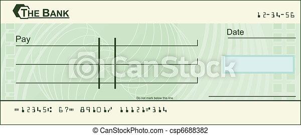 Blank cheque illustration - csp6688382